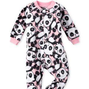 NWOT Childrens Place Toddler Girl Panda Footies 4T